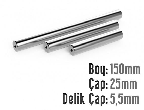Boy 150mm x Çap 25mm x Delik Çapı 5,5mm Boru Tipi Mıknatıs